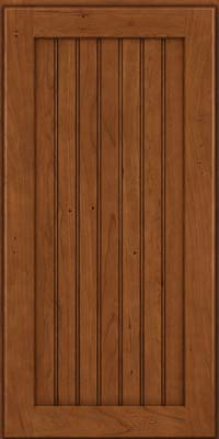 Square Beaded - Solid (BWC) Cherry in Antique Chocolate w/Mocha Glaze - Wall