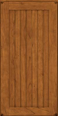 Square Beaded - Solid (BWC) Cherry in Burnished Golden Lager - Wall
