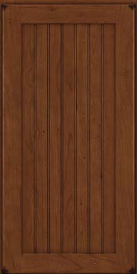 Square Beaded - Solid (BWC) Cherry in Burnished Chocolate - Wall