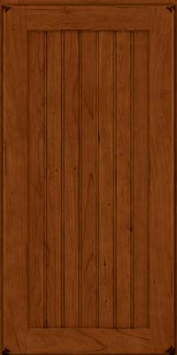 Square Beaded - Solid (BWC) Cherry in Burnished Cinnamon - Wall