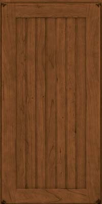 Square Beaded - Solid (BWC) Cherry in Burnished Rye - Wall