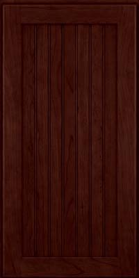 Square Beaded - Solid (BWC) Cherry in Cabernet - Wall