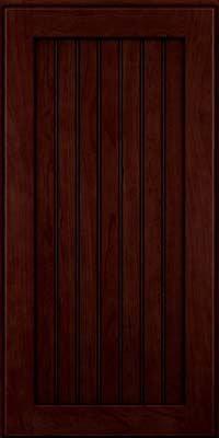 Square Beaded - Solid (BWC) Cherry in Cabernet w/Onyx Glaze - Wall