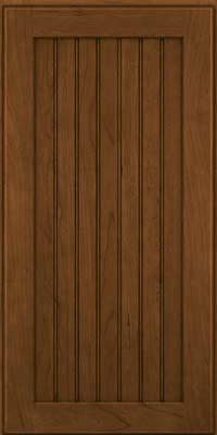Square Beaded - Solid (BWC) Cherry in Rye w/Onyx Glaze - Wall