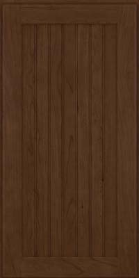 Square Beaded - Solid (BWC) Cherry in Saddle Suede - Wall