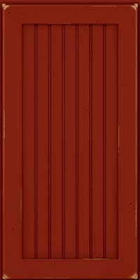 Square Beaded - Solid (BWC) Cherry in Vintage Cardinal - Wall