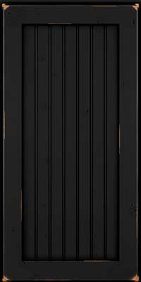 Square Beaded - Solid (BWC) Cherry in Vintage Onyx - Wall
