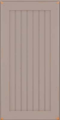 Square Beaded - Solid (BWC) Cherry in Vintage Pebble Grey - Wall