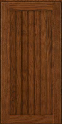 Square Beaded - Solid (BWH) Hickory in Cognac - Wall