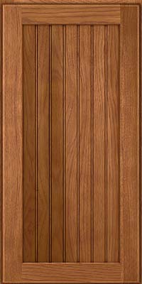 Square Beaded - Solid (BWH) Hickory in Ginger w/Sable Glaze - Wall