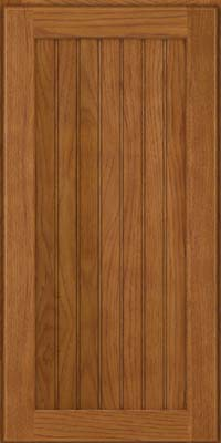 Square Beaded - Solid (BWH) Hickory in Golden Lager - Wall
