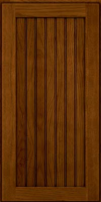Square Beaded - Solid (BWH) Hickory in Praline w/Onyx Glaze - Wall