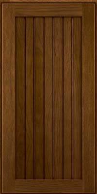 Square Beaded - Solid (BWH) Hickory in Rye w/Onyx Glaze - Wall