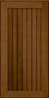 Square Beaded - Solid (BWH) Hickory in Rye w/Sable Glaze - Wall