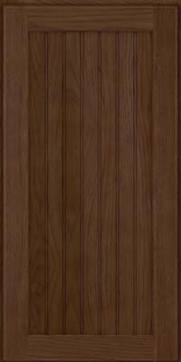 Square Beaded - Solid (BWH) Hickory in Saddle Suede - Wall