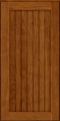 Square Beaded - Solid (BWH) Hickory in Sunset - Wall