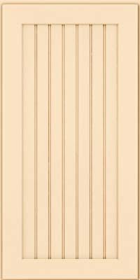 Square Beaded - Solid (BWM) Maple in Biscotti w/Cocoa Glaze - Wall