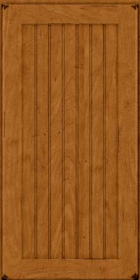 Square Beaded - Solid (BWM) Maple in Burnished Golden Lager - Wall