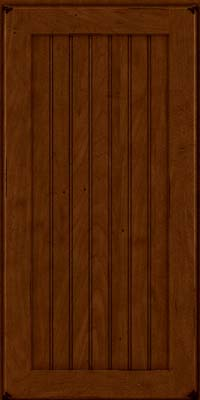 Square Beaded - Solid (BWM) Maple in Burnished Chestnut - Wall