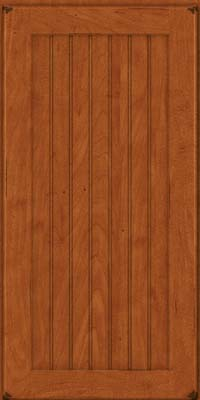 Square Beaded - Solid (BWM) Maple in Burnished Cinnamon - Wall