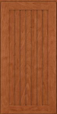 Square Beaded - Solid (BWM) Maple in Cinnamon - Wall