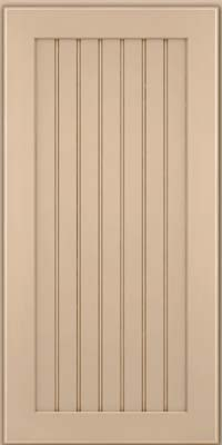 Square Beaded - Solid (BWM) Maple in Mushroom w/Cocoa Glaze - Wall