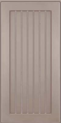 Square Beaded - Solid (BWM) Maple in Pebble Grey w/ Coconut Glaze - Wall