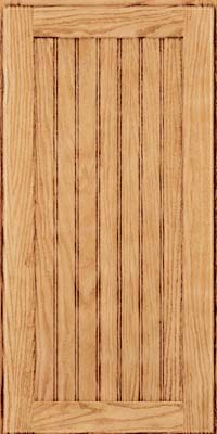 Square Beaded - Solid (SMG) Oak in Natural - Wall
