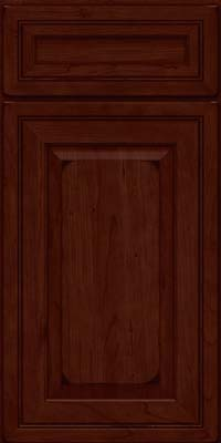 Square Raised Panel - Solid (CRC) Cherry in Burnished Cabernet - Base