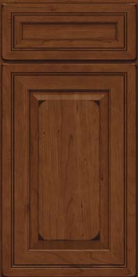 Square Raised Panel - Solid (CRC) Cherry in Burnished Chocolate - Base