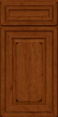 Square Raised Panel - Solid (CRC) Cherry in Burnished Cinnamon - Base