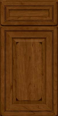 Square Raised Panel - Solid (CRC) Cherry in Burnished Ginger - Base
