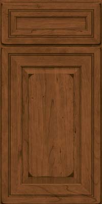 Square Raised Panel - Solid (CRC) Cherry in Burnished Rye - Base
