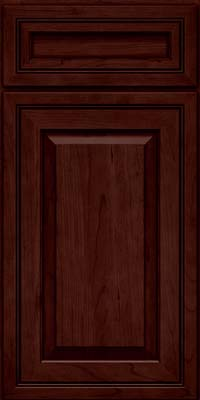 Square Raised Panel - Solid (CRC) Cherry in Cabernet - Base