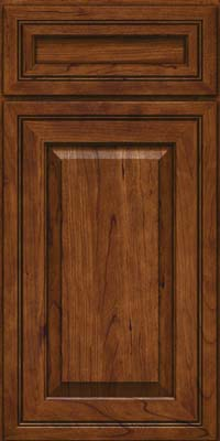 Square Raised Panel - Solid (CRC) Cherry in Cognac - Base