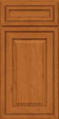 Square Raised Panel - Solid (CRC) Cherry in Honey Spice - Base