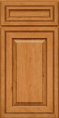 Square Raised Panel - Solid (CRC) Cherry in Natural - Base