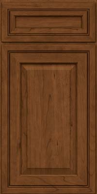 Square Raised Panel - Solid (CRC) Cherry in Rye w/Sable Glaze - Base
