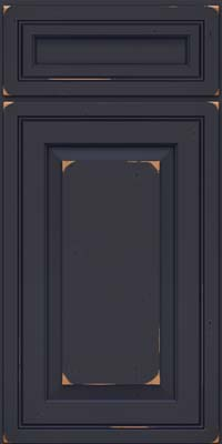 Square Raised Panel - Solid (CRC) Cherry in Vintage Midnight w/ Onyx Patina - Base