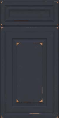 Square Raised Panel - Solid (CRC) Cherry in Vintage Midnight - Base
