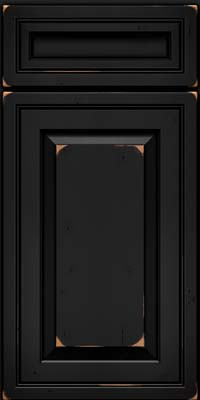 Square Raised Panel - Solid (CRC) Cherry in Vintage Onyx - Base