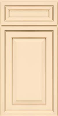 Square Raised Panel - Solid (CRM) Maple in Biscotti w/Cocoa Glaze - Base