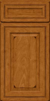 Square Raised Panel - Solid (CRM) Maple in Burnished Golden Lager - Base