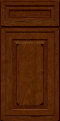 Square Raised Panel - Solid (CRM) Maple in Burnished Chestnut - Base