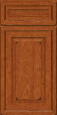 Square Raised Panel - Solid (CRM) Maple in Burnished Cinnamon - Base