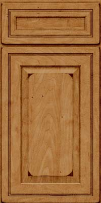 Square Raised Panel - Solid (CRM) Maple in Burnished Ginger - Base