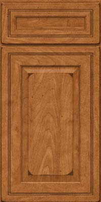 Square Raised Panel - Solid (CRM) Maple in Burnished Praline - Base