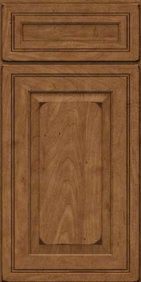 Square Raised Panel - Solid (CRM) Maple in Burnished Rye - Base