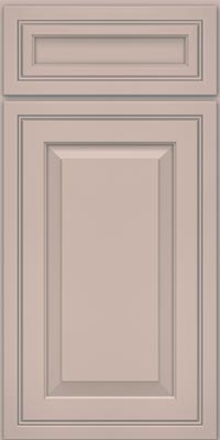 Square Raised Panel - Solid (CRM1) Maple in Chai w/Cinder Glaze - Base