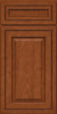 Square Raised Panel - Solid (CRM) Maple in Chestnut - Base